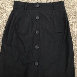Ann Taylor MIDI Black Skirt